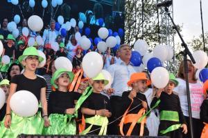 """הפנינג העצמאות לילדי הגנים. הפריחו בלונים וצפו ב""""דוד חיים"""". צילום: רפי עשור"""